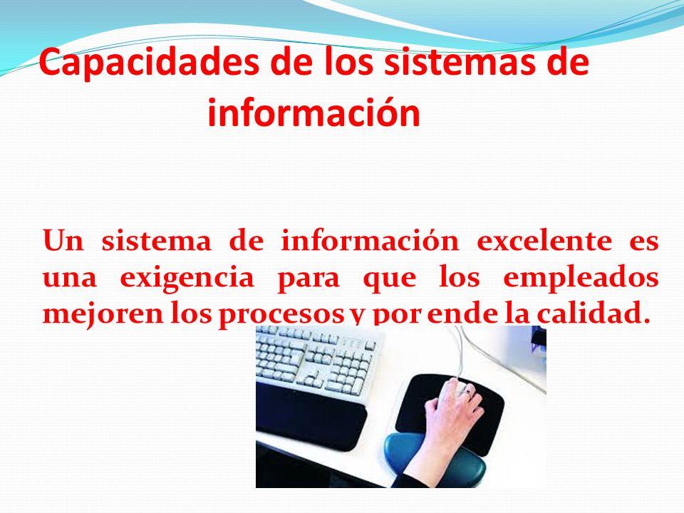Capacidades de los sistemas de información