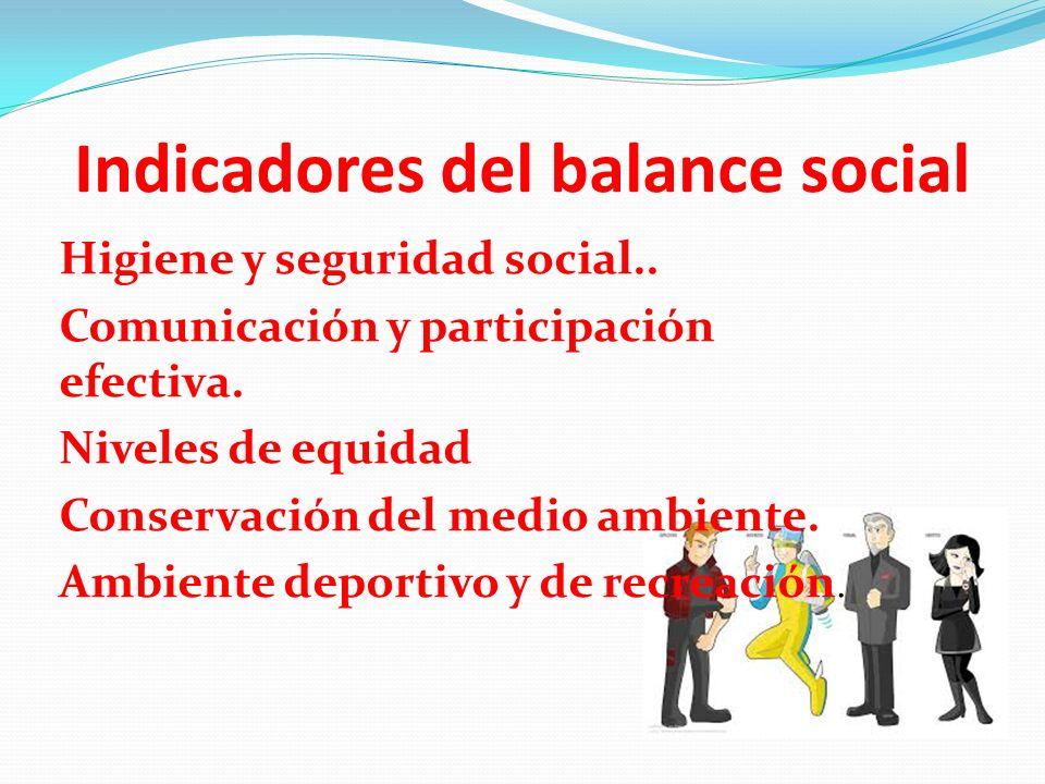 Indicadores del balance social