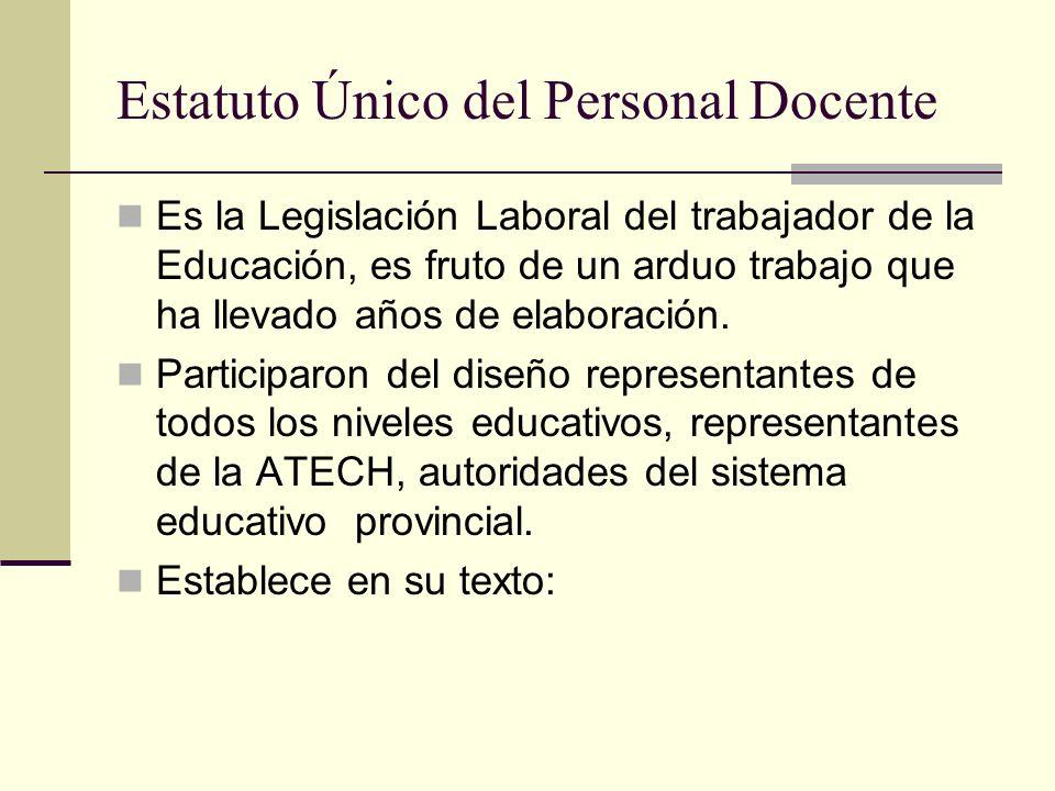 Estatuto Único del Personal Docente