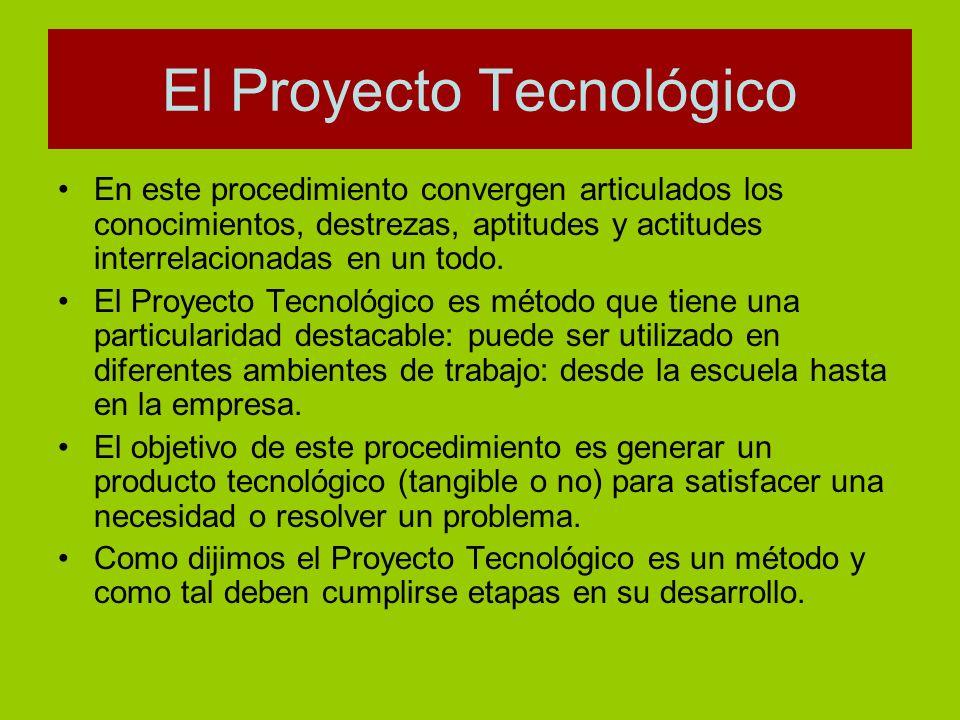 El Proyecto Tecnológico