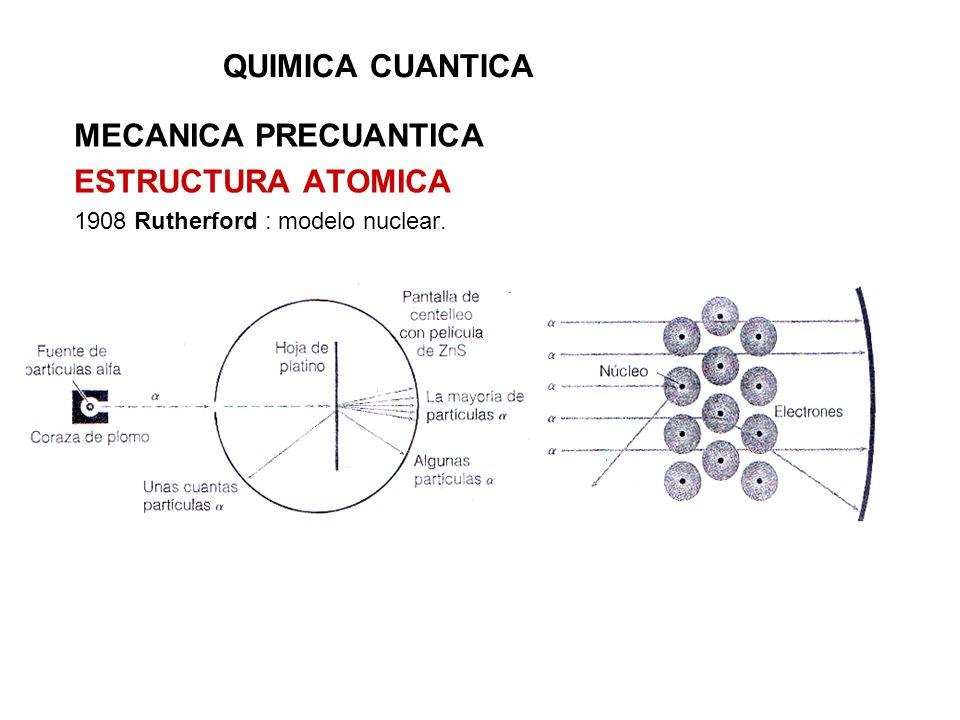 QUIMICA CUANTICA MECANICA PRECUANTICA ESTRUCTURA ATOMICA