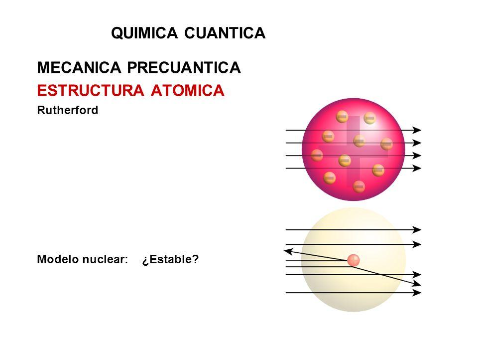 QUIMICA CUANTICA MECANICA PRECUANTICA ESTRUCTURA ATOMICA Rutherford