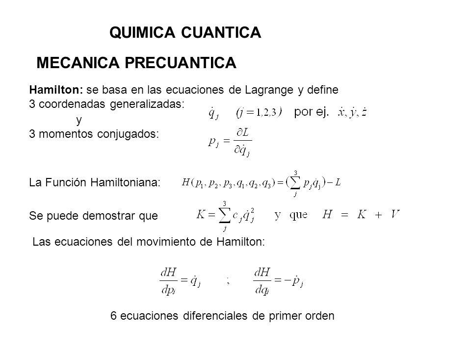 QUIMICA CUANTICA MECANICA PRECUANTICA