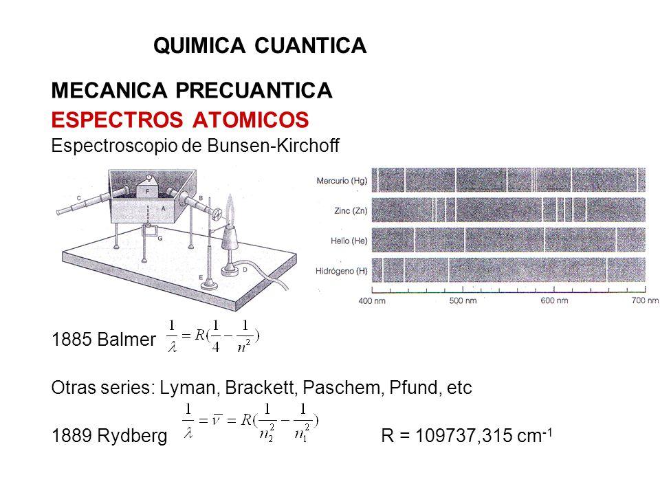 QUIMICA CUANTICA MECANICA PRECUANTICA ESPECTROS ATOMICOS