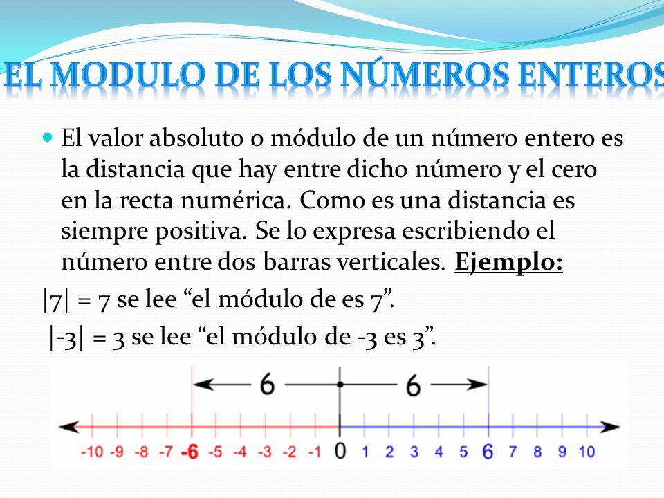 El modulo de los números enteros