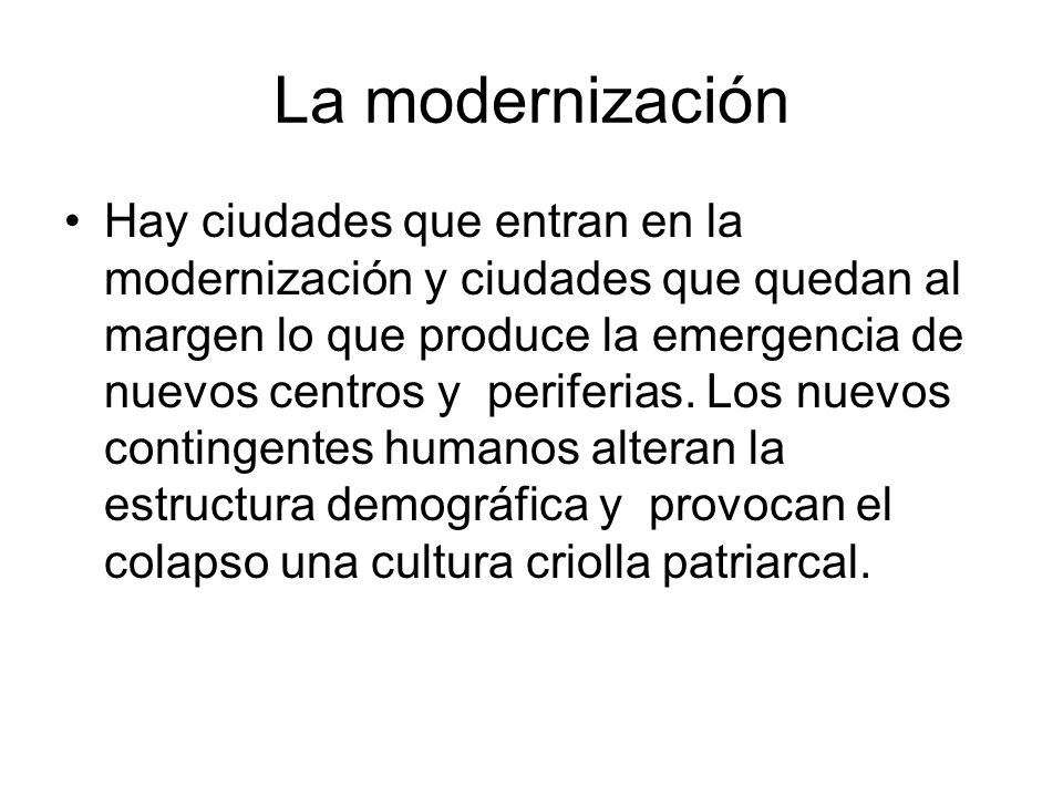 La modernización