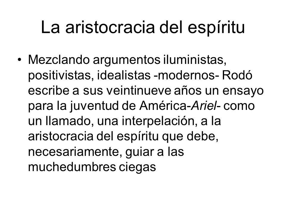 La aristocracia del espíritu
