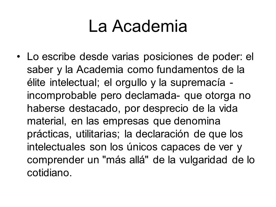 La Academia