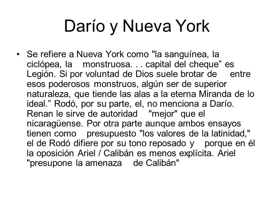 Darío y Nueva York
