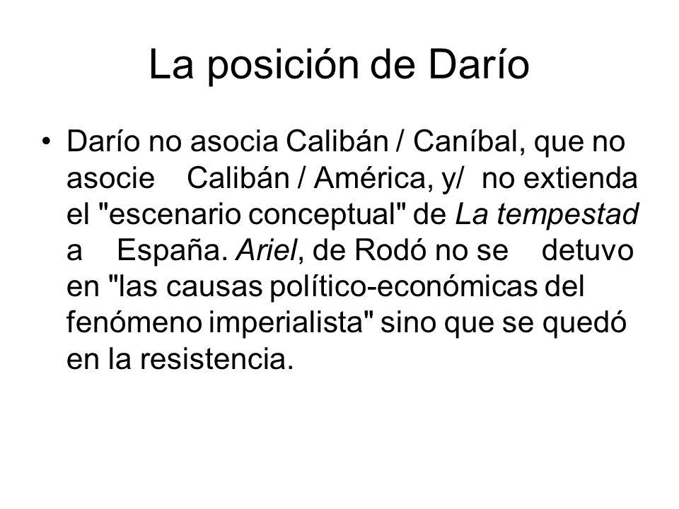 La posición de Darío