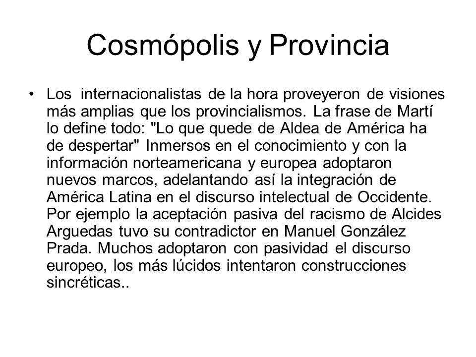 Cosmópolis y Provincia