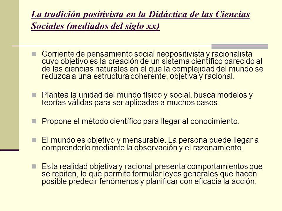La tradición positivista en la Didáctica de las Ciencias Sociales (mediados del siglo xx)
