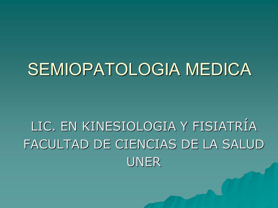 SEMIOPATOLOGIA MEDICA