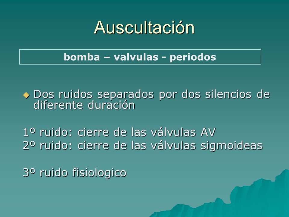 bomba – valvulas - periodos