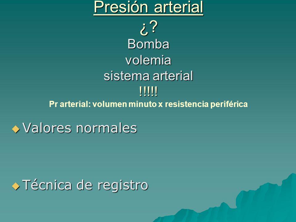 Presión arterial ¿. Bomba volemia sistema arterial