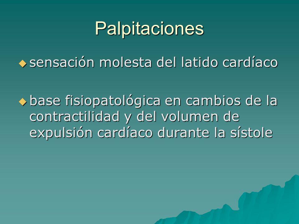 Palpitaciones sensación molesta del latido cardíaco