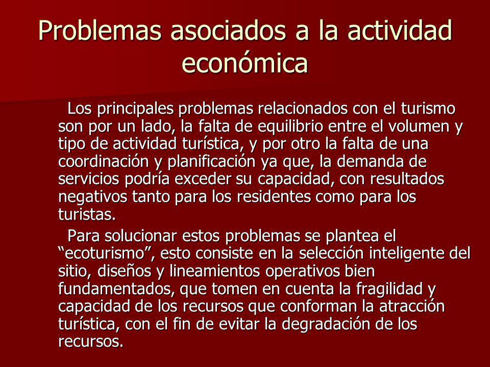 Problemas asociados a la actividad económica