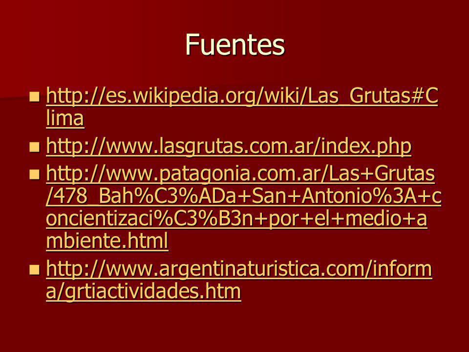 Fuentes http://es.wikipedia.org/wiki/Las_Grutas#Clima