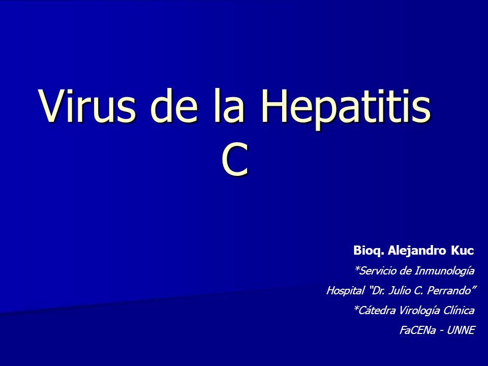 Virus de la Hepatitis C Bioq. Alejandro Kuc *Servicio de Inmunología
