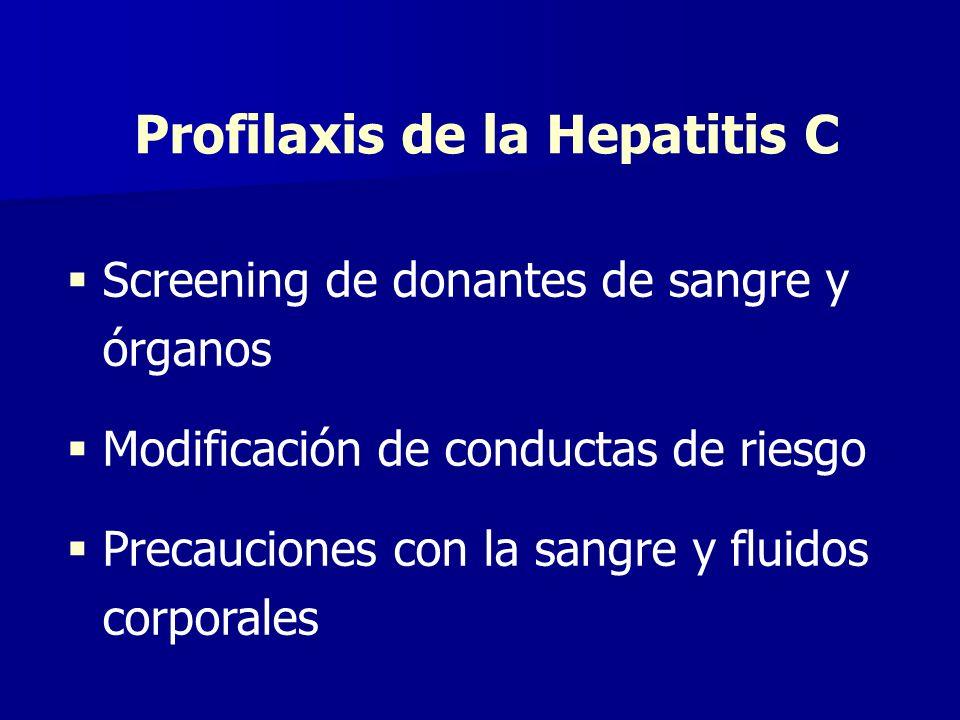 Profilaxis de la Hepatitis C