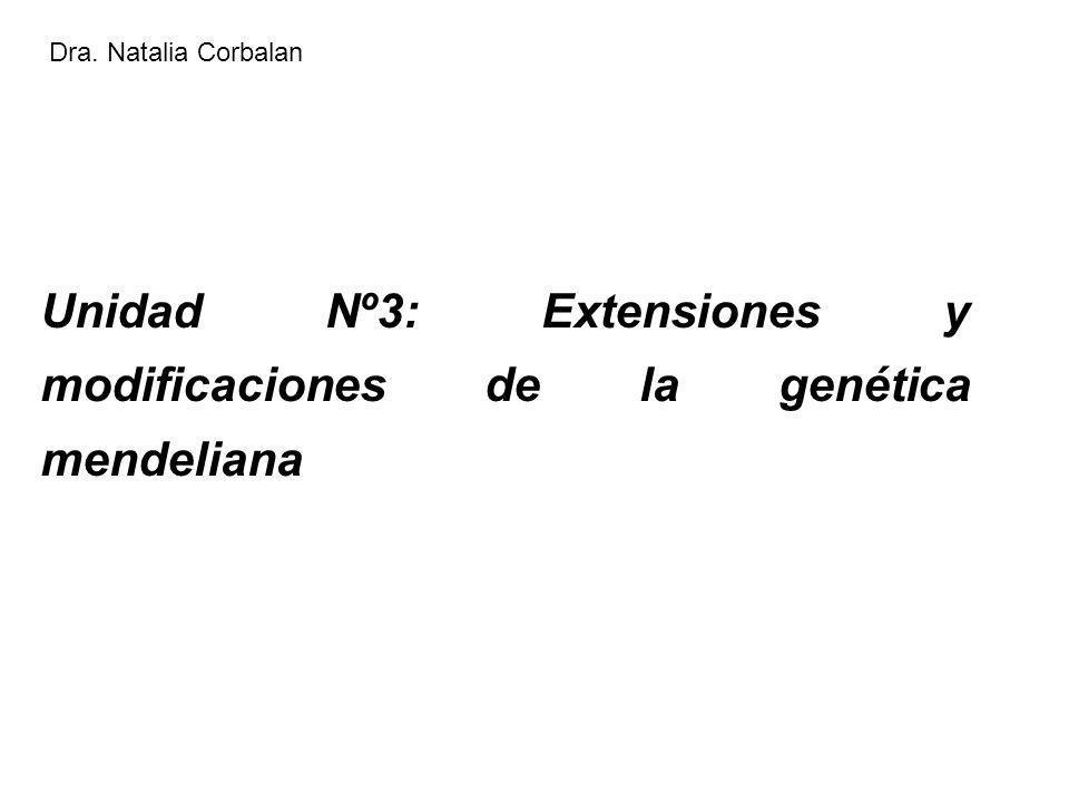 Unidad Nº3: Extensiones y modificaciones de la genética mendeliana