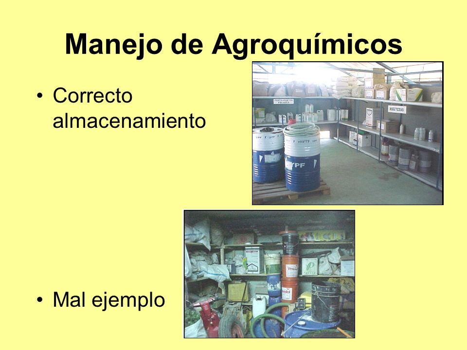 Manejo de Agroquímicos