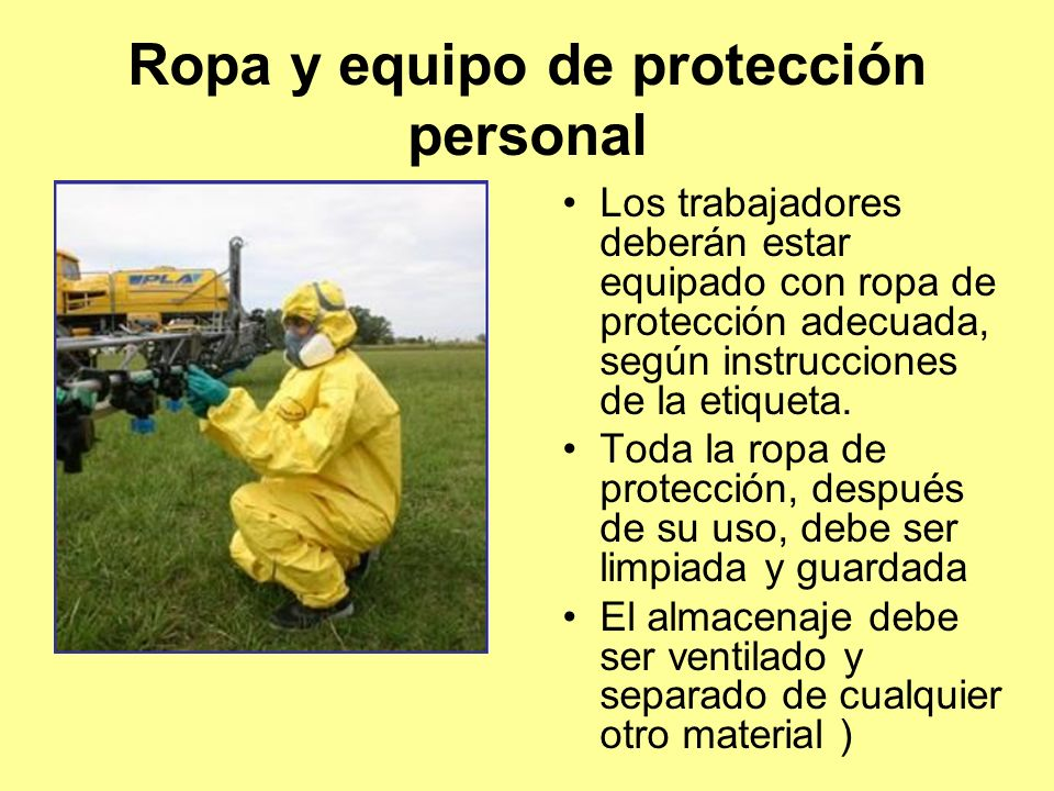Ropa y equipo de protección personal