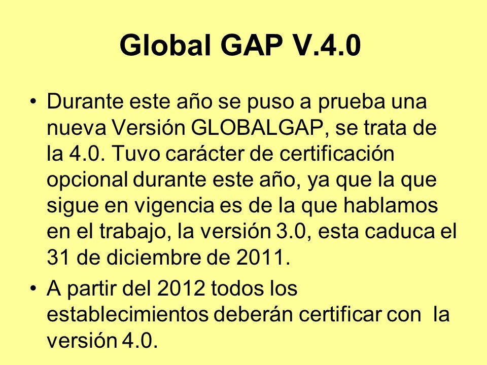 Global GAP V.4.0
