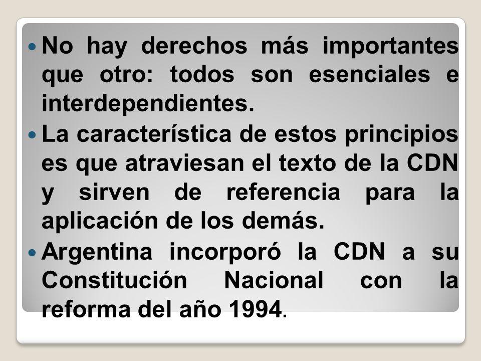 No hay derechos más importantes que otro: todos son esenciales e interdependientes.