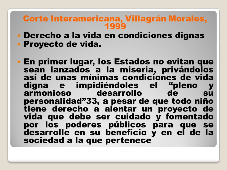 Corte Interamericana, Villagrán Morales, 1999