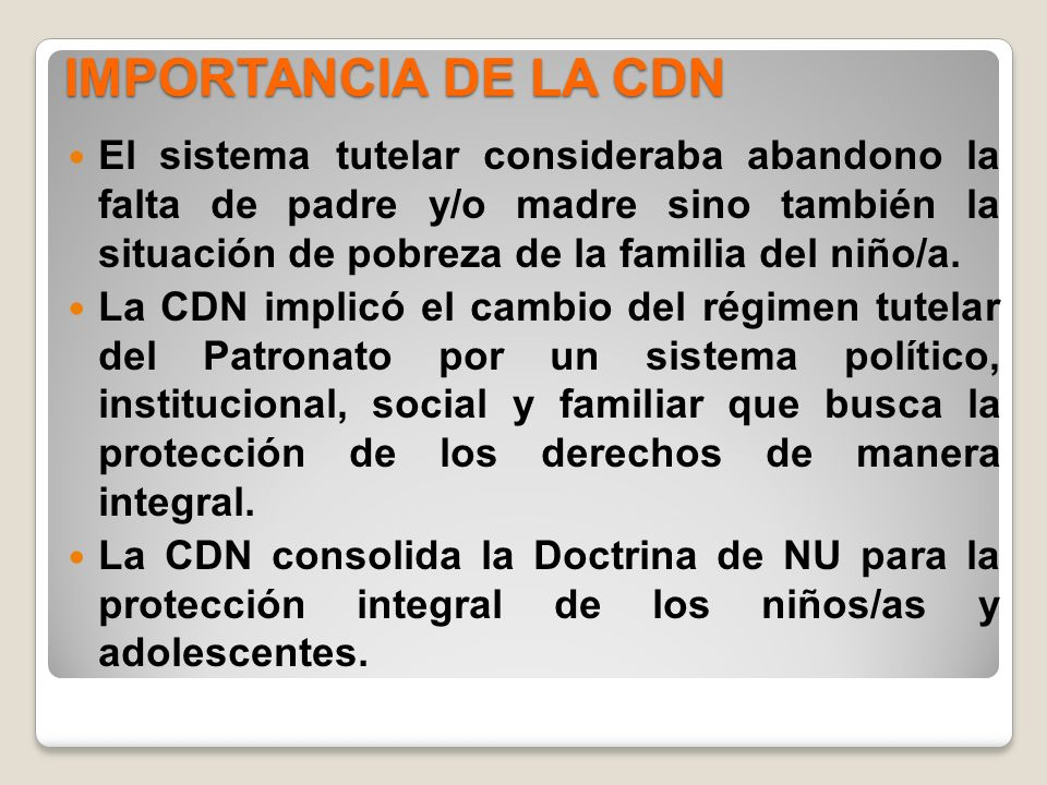 IMPORTANCIA DE LA CDN