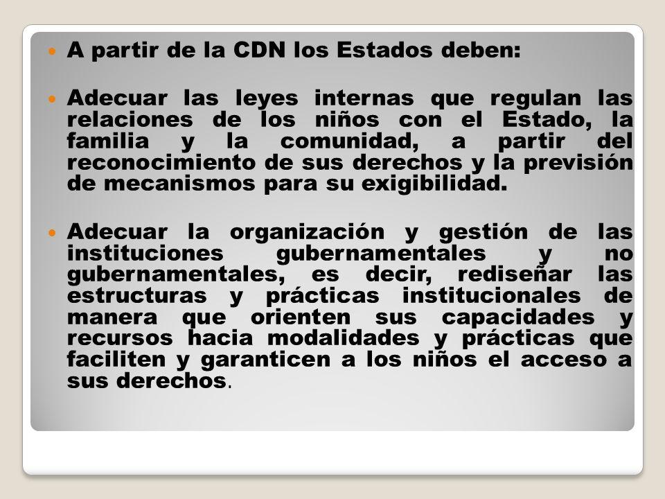 A partir de la CDN los Estados deben: