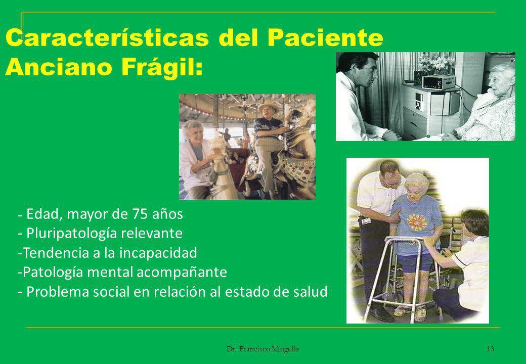 Características del Paciente Anciano Frágil: