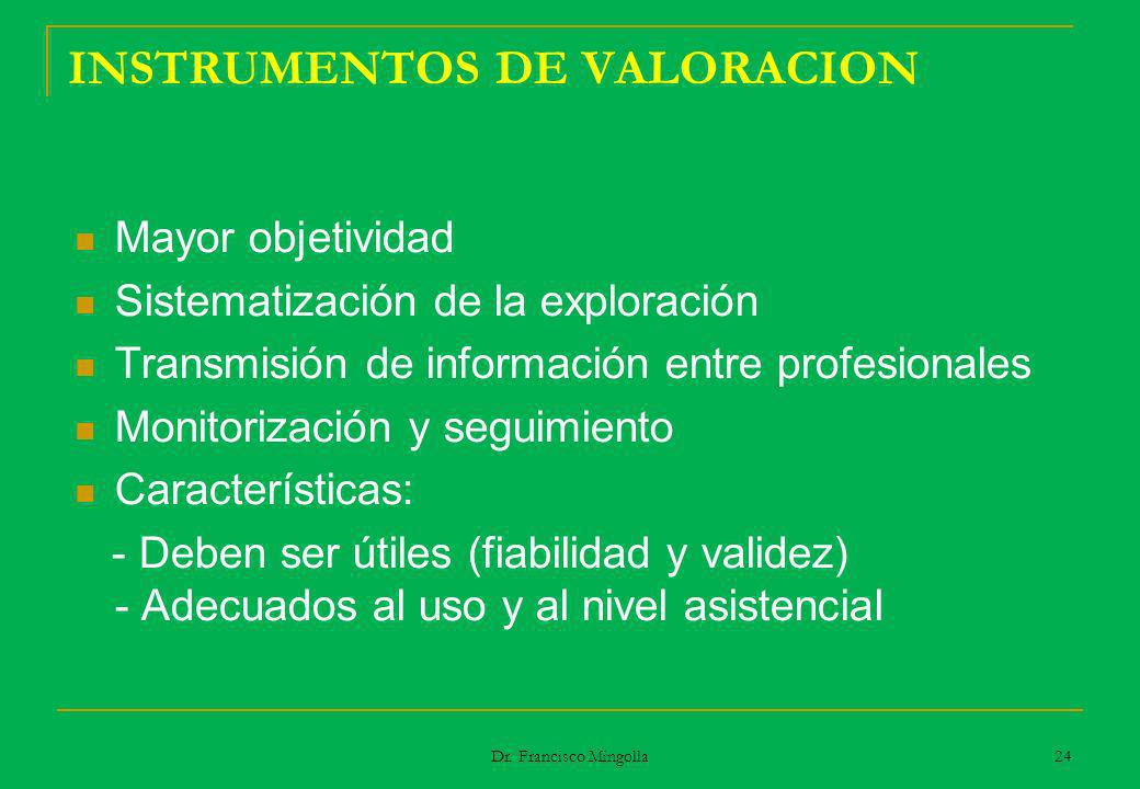 INSTRUMENTOS DE VALORACION
