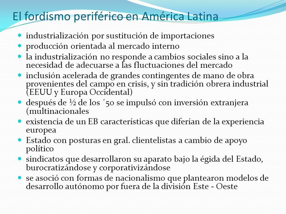 El fordismo periférico en América Latina