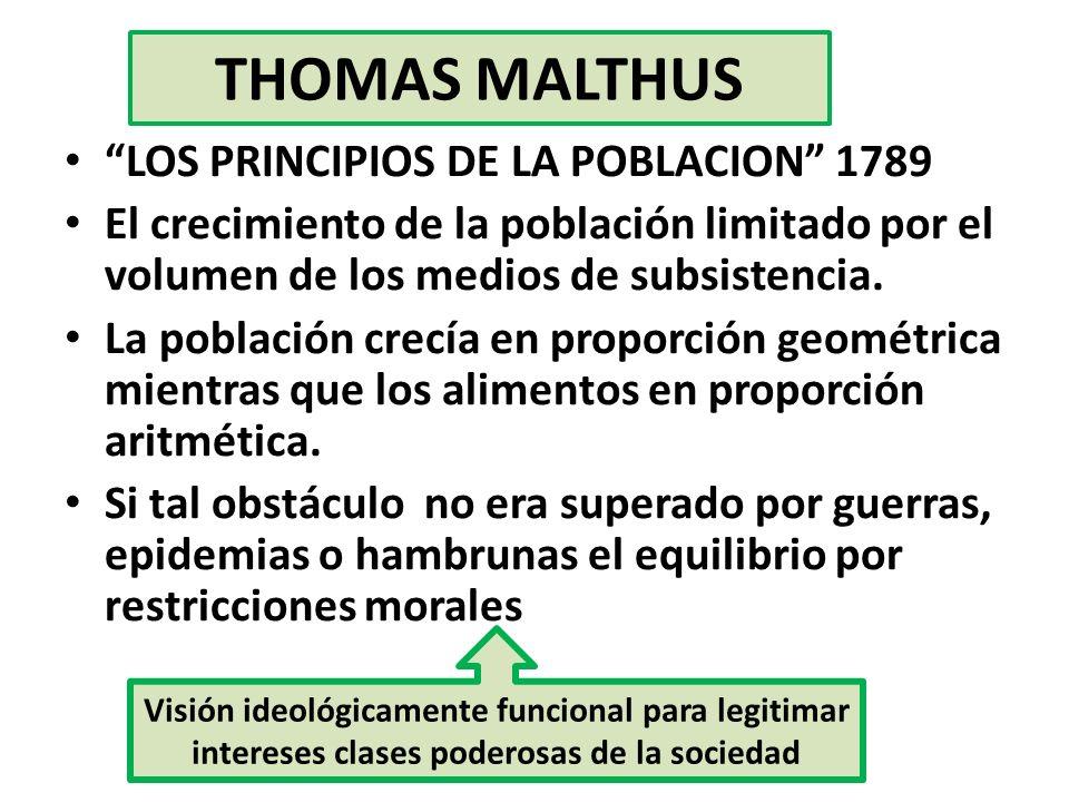 THOMAS MALTHUS LOS PRINCIPIOS DE LA POBLACION 1789