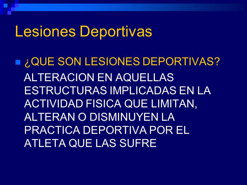 Lesiones Deportivas ¿QUE SON LESIONES DEPORTIVAS