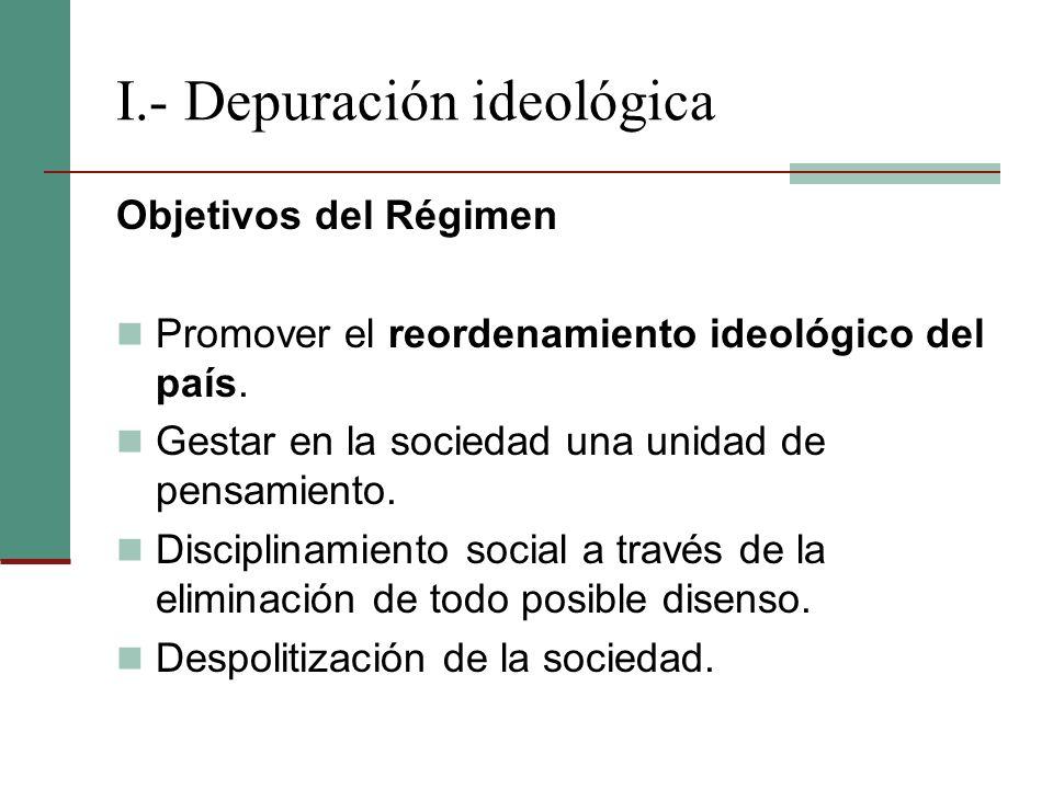 I.- Depuración ideológica