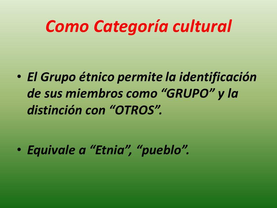 Como Categoría cultural