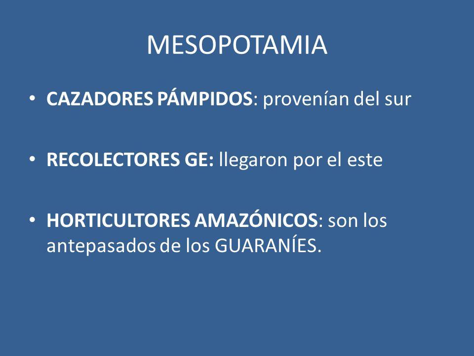 MESOPOTAMIA CAZADORES PÁMPIDOS: provenían del sur