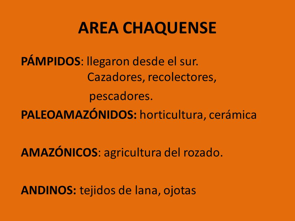 AREA CHAQUENSE