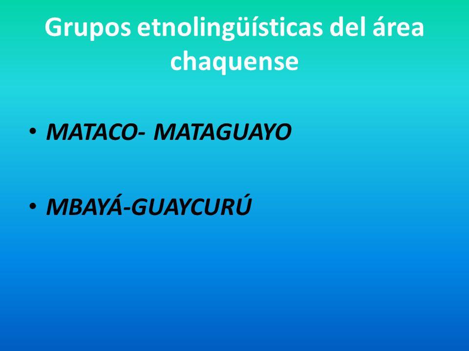 Grupos etnolingüísticas del área chaquense