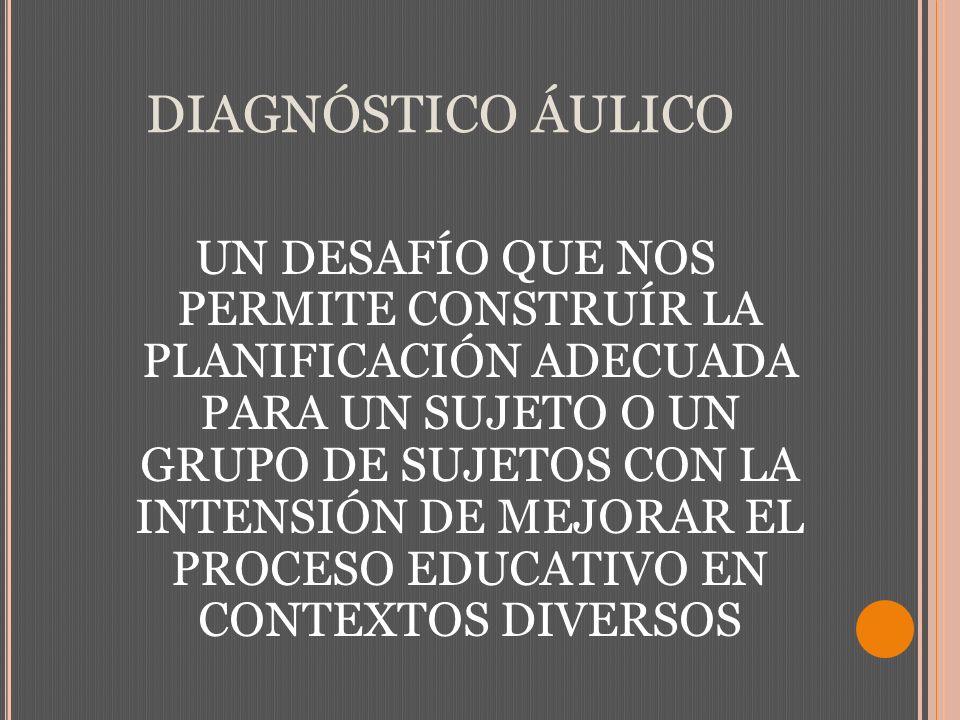 DIAGNÓSTICO ÁULICO