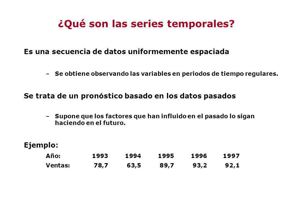¿Qué son las series temporales