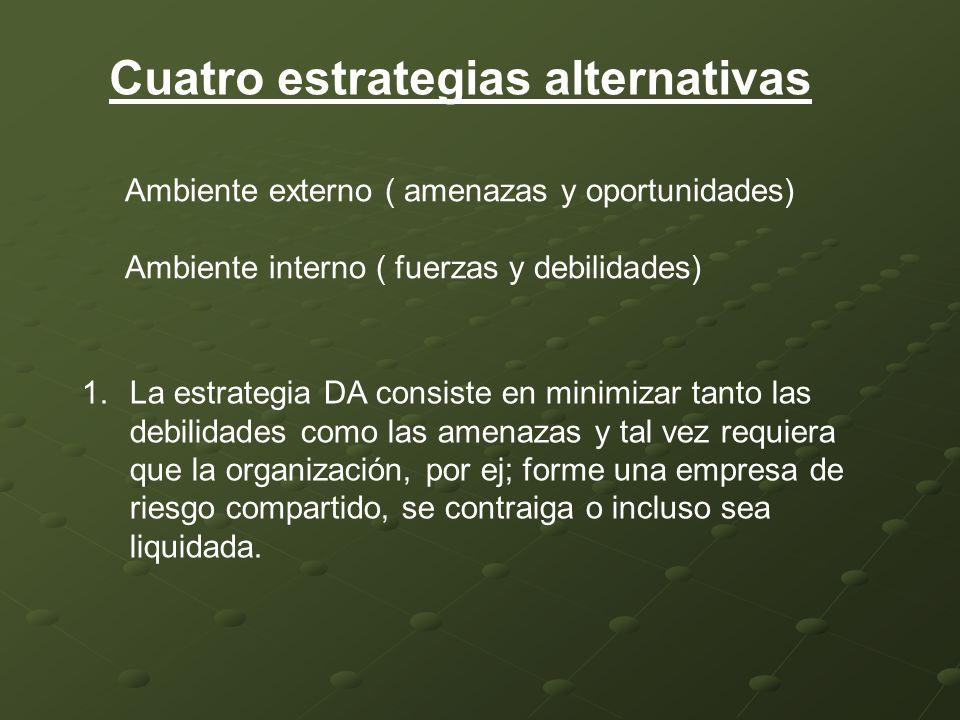 Cuatro estrategias alternativas