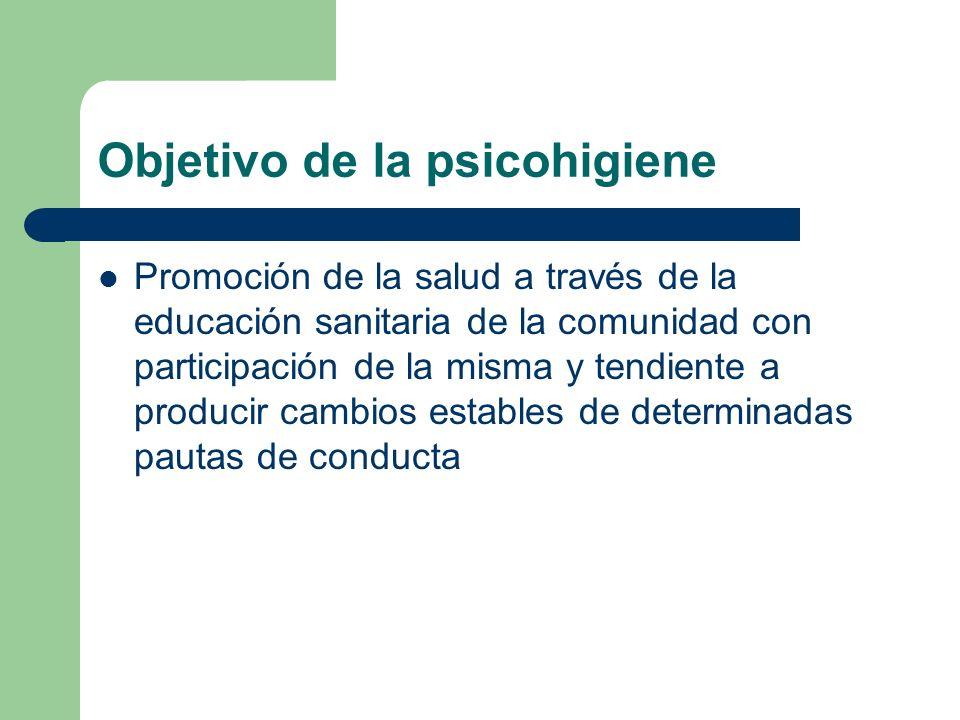 Objetivo de la psicohigiene