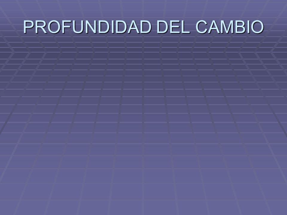 PROFUNDIDAD DEL CAMBIO