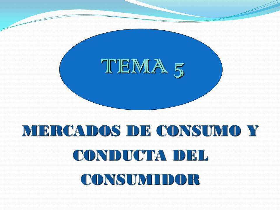 MERCADOS DE CONSUMO Y CONDUCTA DEL CONSUMIDOR