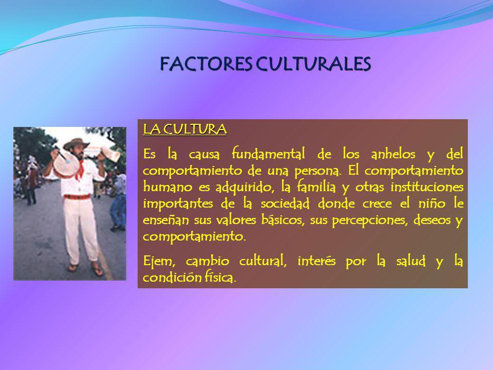 FACTORES CULTURALES LA CULTURA