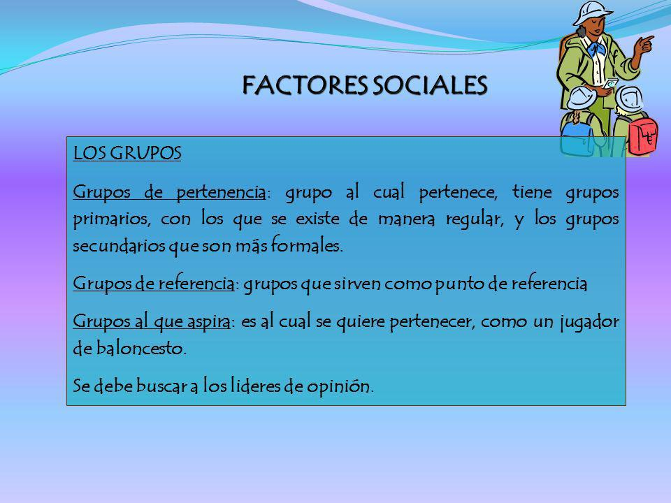 FACTORES SOCIALES LOS GRUPOS